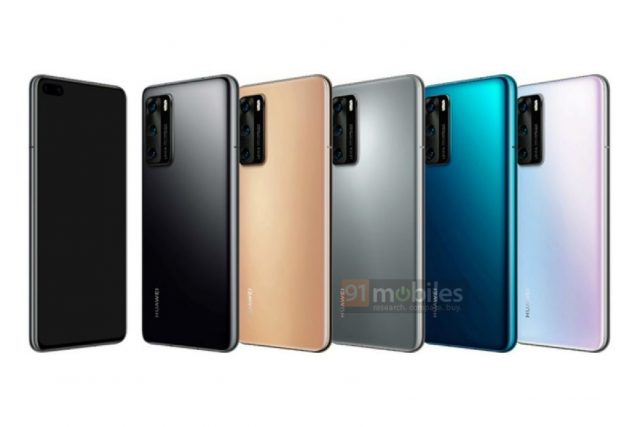 Huawei P40 & P40 Pro press renders show off launch colors